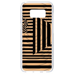 Wooden Pause Play Paws Abstract Oparton Line Roulette Spin Samsung Galaxy S8 White Seamless Case by BangZart