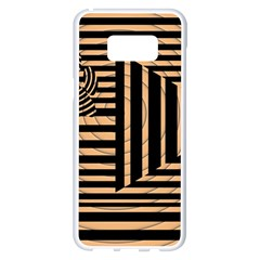 Wooden Pause Play Paws Abstract Oparton Line Roulette Spin Samsung Galaxy S8 Plus White Seamless Case