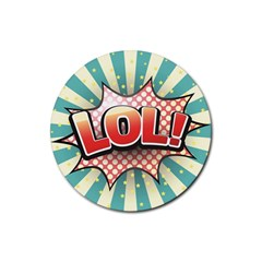 Lol Comic Speech Bubble  Vector Illustration Rubber Coaster (round)