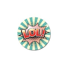 Lol Comic Speech Bubble  Vector Illustration Golf Ball Marker