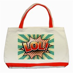 Lol Comic Speech Bubble  Vector Illustration Classic Tote Bag (red) by BangZart