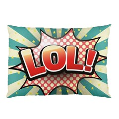 Lol Comic Speech Bubble  Vector Illustration Pillow Case (two Sides) by BangZart