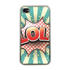 Lol Comic Speech Bubble  Vector Illustration Apple Iphone 4 Case (clear)