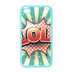 Lol Comic Speech Bubble  Vector Illustration Apple Iphone 4 Case (color)