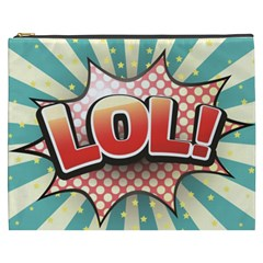 Lol Comic Speech Bubble  Vector Illustration Cosmetic Bag (xxxl)