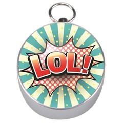 Lol Comic Speech Bubble  Vector Illustration Silver Compasses