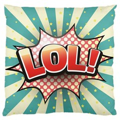 Lol Comic Speech Bubble  Vector Illustration Large Flano Cushion Case (two Sides) by BangZart