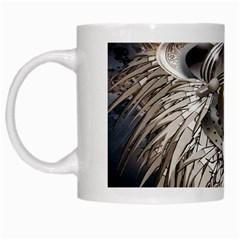 Lion Robot White Mugs