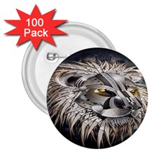 Lion Robot 2 25  Buttons (100 Pack)