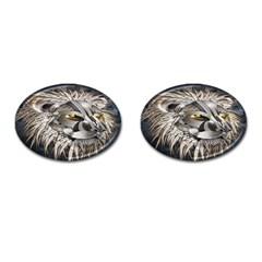 Lion Robot Cufflinks (oval)