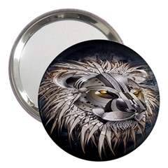 Lion Robot 3  Handbag Mirrors