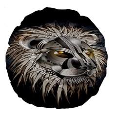 Lion Robot Large 18  Premium Round Cushions