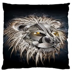 Lion Robot Large Flano Cushion Case (two Sides)