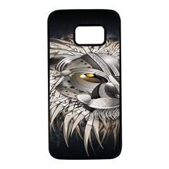 Lion Robot Samsung Galaxy S7 Black Seamless Case