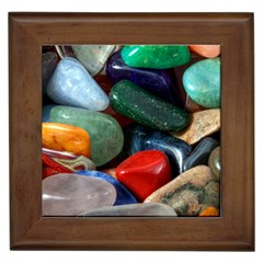 Stones Colors Pattern Pebbles Macro Rocks Framed Tiles