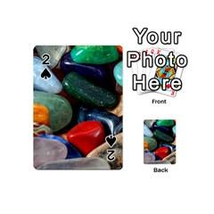 Stones Colors Pattern Pebbles Macro Rocks Playing Cards 54 (mini)  by BangZart