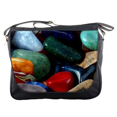 Stones Colors Pattern Pebbles Macro Rocks Messenger Bags