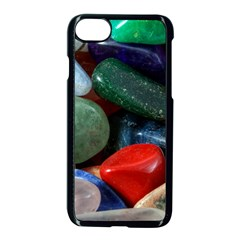 Stones Colors Pattern Pebbles Macro Rocks Apple Iphone 7 Seamless Case (black) by BangZart