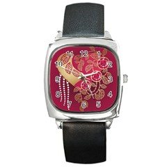 Love Heart Square Metal Watch