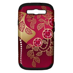 Love Heart Samsung Galaxy S Iii Hardshell Case (pc+silicone) by BangZart