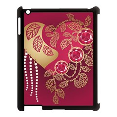 Love Heart Apple Ipad 3/4 Case (black)