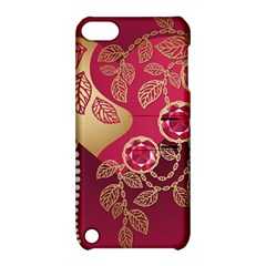 Love Heart Apple Ipod Touch 5 Hardshell Case With Stand by BangZart