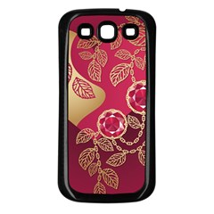 Love Heart Samsung Galaxy S3 Back Case (black) by BangZart
