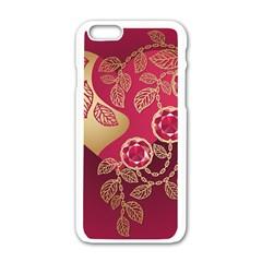 Love Heart Apple Iphone 6/6s White Enamel Case