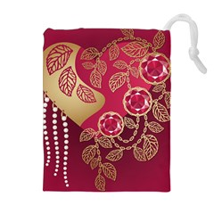 Love Heart Drawstring Pouches (extra Large)