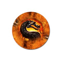 Dragon And Fire Magnet 3  (round) by BangZart