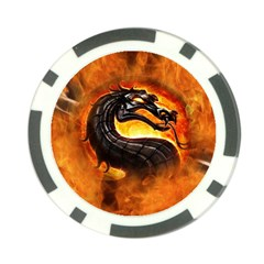 Dragon And Fire Poker Chip Card Guard (10 Pack)