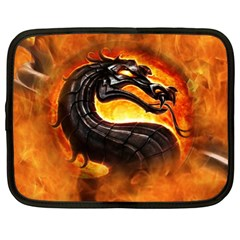 Dragon And Fire Netbook Case (xl)