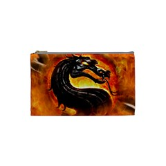 Dragon And Fire Cosmetic Bag (small)