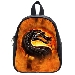 Dragon And Fire School Bags (small)  by BangZart