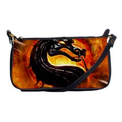 Dragon And Fire Shoulder Clutch Bags