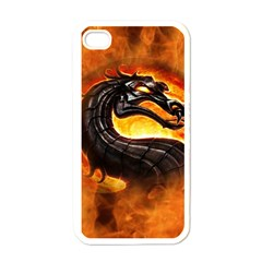 Dragon And Fire Apple Iphone 4 Case (white)