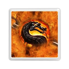 Dragon And Fire Memory Card Reader (square)  by BangZart