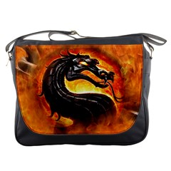 Dragon And Fire Messenger Bags