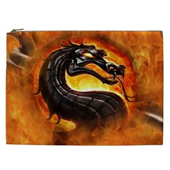 Dragon And Fire Cosmetic Bag (xxl)