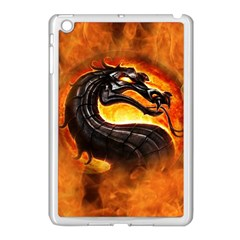 Dragon And Fire Apple Ipad Mini Case (white) by BangZart