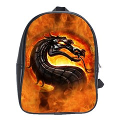 Dragon And Fire School Bags (xl)