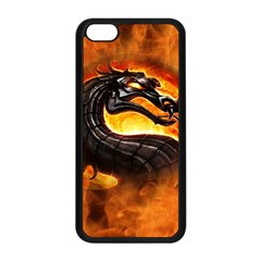 Dragon And Fire Apple Iphone 5c Seamless Case (black)