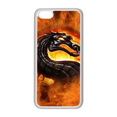 Dragon And Fire Apple Iphone 5c Seamless Case (white)
