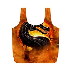 Dragon And Fire Full Print Recycle Bags (m)