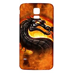 Dragon And Fire Samsung Galaxy S5 Back Case (white)