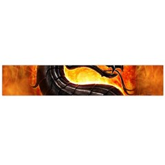 Dragon And Fire Flano Scarf (large)