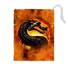 Dragon And Fire Drawstring Pouches (extra Large)