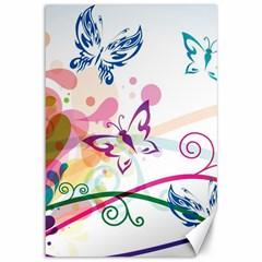 Butterfly Vector Art Canvas 12  X 18