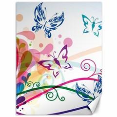 Butterfly Vector Art Canvas 36  X 48