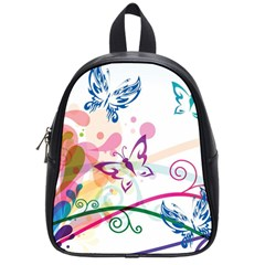 Butterfly Vector Art School Bags (small)